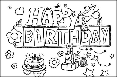 crayola birthday cake coloring page free happy birthday coloring pages for kids color zini