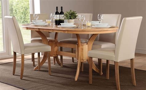 townhouse oval extending dining table 6 chairs and 6