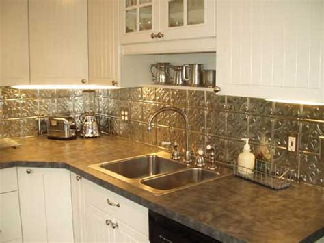 tin kitchen backsplash ideas metal kitchen decor pictures afreakatheart