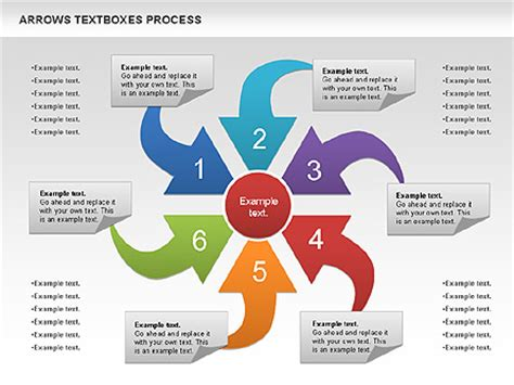 templates from presentation process arrows textboxes process diagram for presentations in