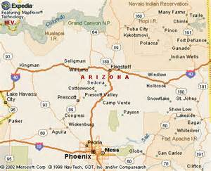 where is sedona arizona on the map
