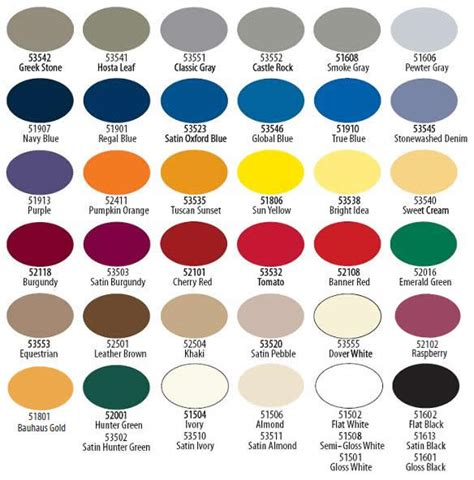 krylon color chart krylon indoor outdoor paint