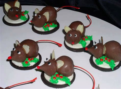 images of christmas mice honey butter oreo christmas mice with chocolate dipped