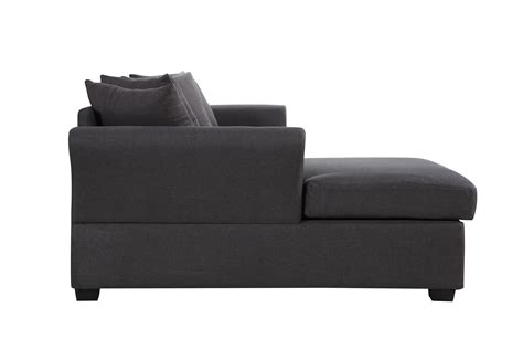 modern large linen sectional sofa with wide chaise