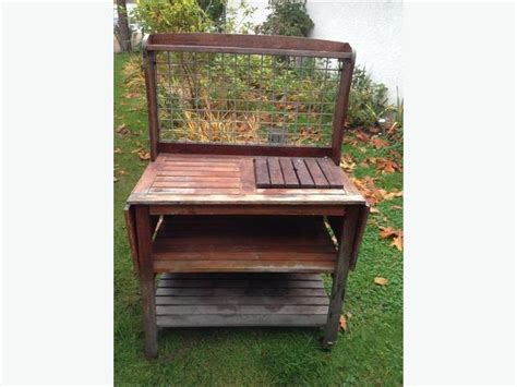 teak potting bench solid wood teak potting gardening table cbell river