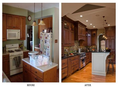 Redo Old Kitchen Cabinets by Kitchen Kitchens Before And After Remodel Diy Kitchen
