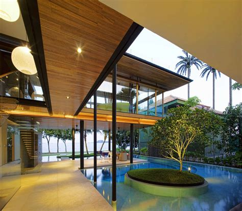 modern tropical house plans environmentally friendly modern tropical house in singapore idesignarch interior