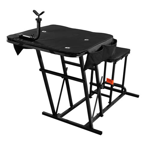 portable bench rest shooting hunting chair seat bench field range portable