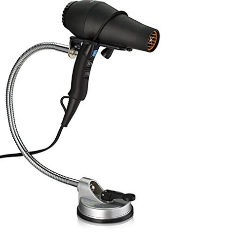Sally Supply Hair Dryer Holder free hair dryer holder adjustable stand with easy instant mount no tools required