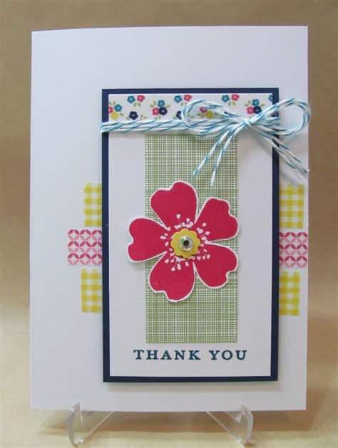 Thank You Handmade Cards - savvy handmade cards washi thank you card