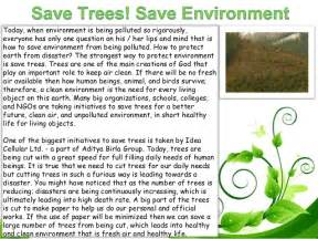 Go Green Save Trees Essay by Save Environment Ppt