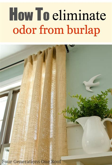 how to eliminate odors in a room how to eliminate burlap curtain odor four generations one roof