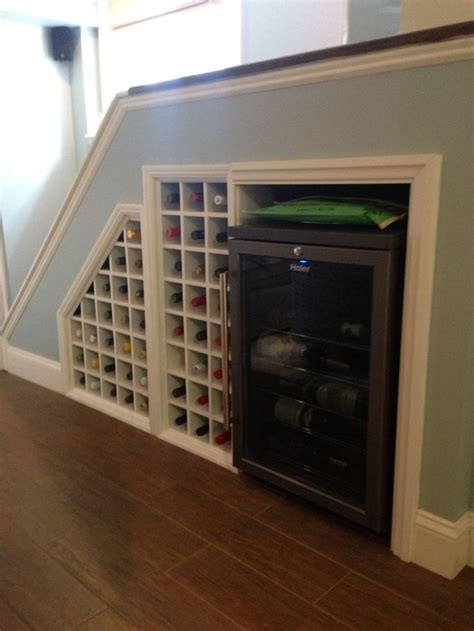 under stair case wine cooler 11 best wine rack under stairs images on pinterest