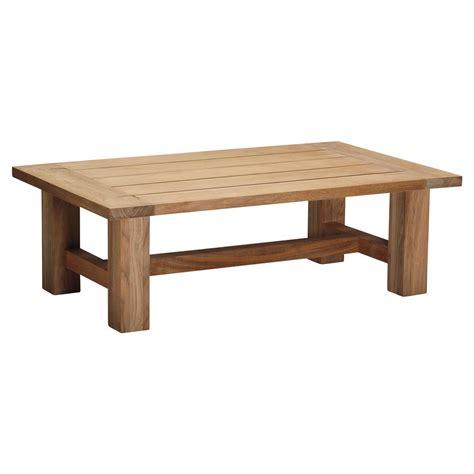 Summer Classics Croquet Natural Teak Wood Outdoor Coffee Table Coffee Table Teak Wood