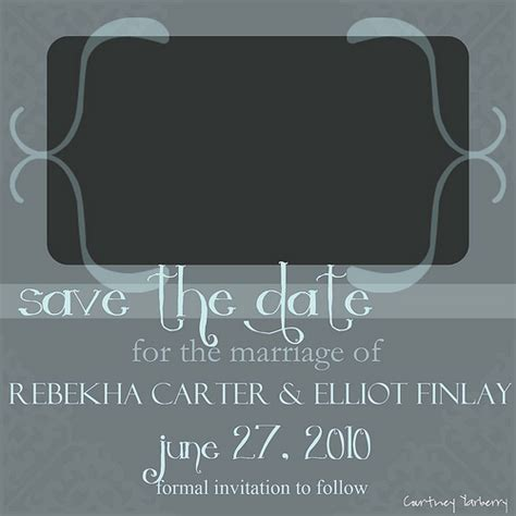 cy photography and design free save the date card template