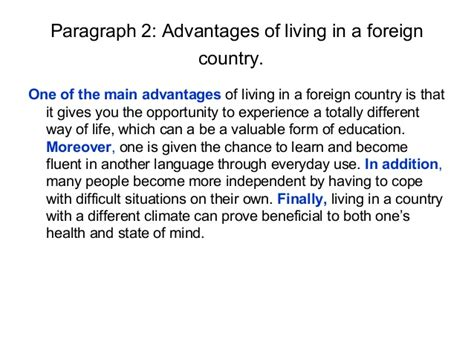 Living Abroad Essay by A For And Against Essay