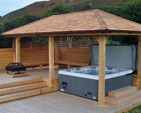tub pergolas best 25 outdoor ideas on small garden and outdoor spa