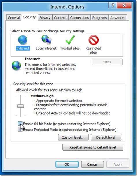 in windows 8 mode of internet explorer how to you get rid how to enable 64 bit mode in internet explorer 10 on windows 8