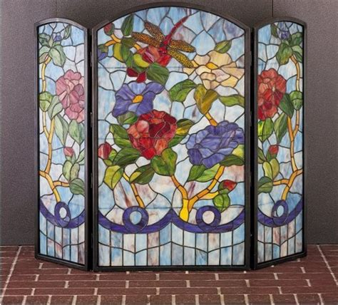 Dragonfly Fireplace Screen by Image Dragonflies Flower Folding Fireplaces