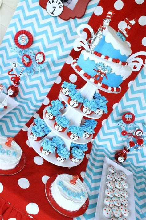 Dr Seuss Baby Shower Favors by Dr Seuss Baby Shower Favors Thing 1 And Thing 2 Thing