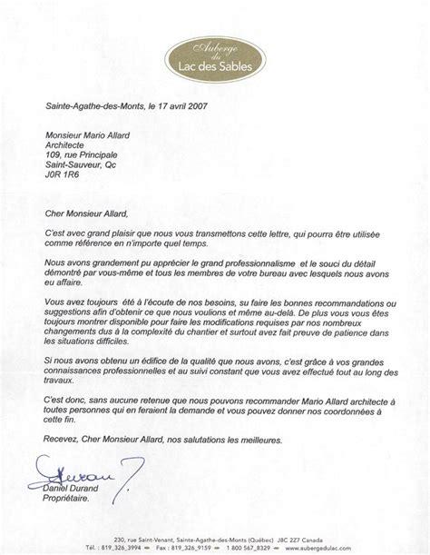 Lettre De Recommandation Architecte Exemple Lettre De Recommandation Femme De Menage Document
