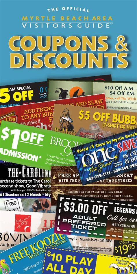 Free Myrtle Beach Coupon Discounts Book By Daniel Cannon House Myrtle Coupons