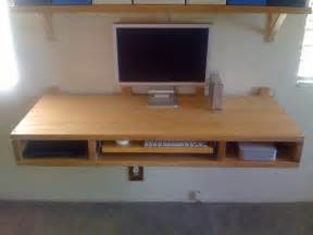 Diy Wall Mounted Desk Diy Wall Mount Desk Of Two Countertops Shelterness