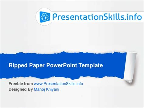 Paper Presentation Ppt Template ripped paper effect powerpoint template