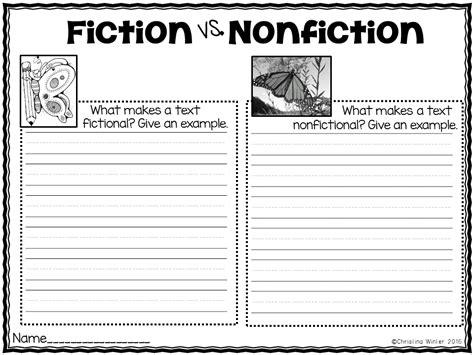 Nonfiction Worksheets by Fiction Vs Nonfiction Worksheet Lesupercoin Printables