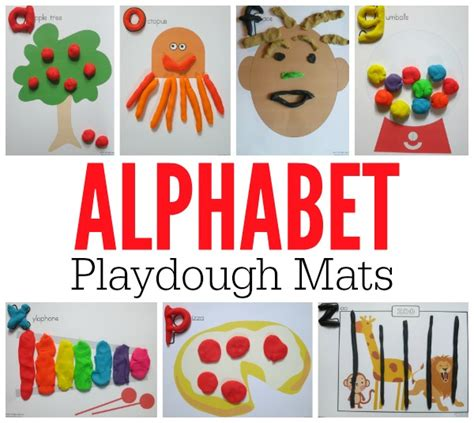 alphabet playdough mats free printable mats