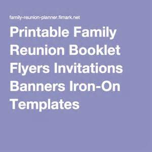 family reunion booklet sle printable family reunion booklet flyers invitations banners iron on templates i family