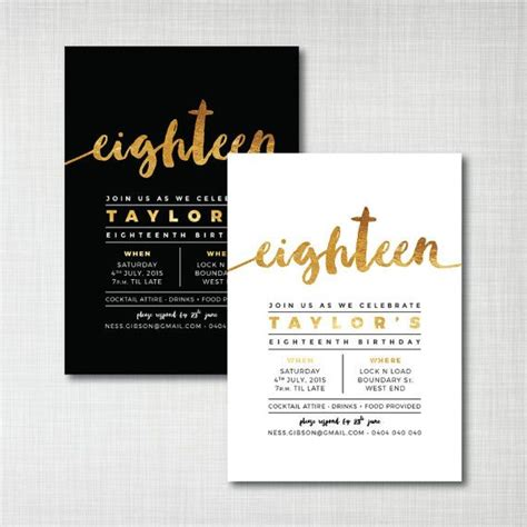 invitation design layout another invite design idea we could imitate modern gold