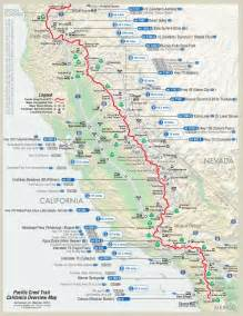pacific crest trail map pct hike outdoors