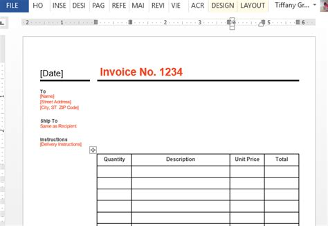 Standard Business Invoice Template For Word How To Create A Business Invoice Template