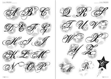 del abecedario manuscritas letras tattoo stencil alfabeto