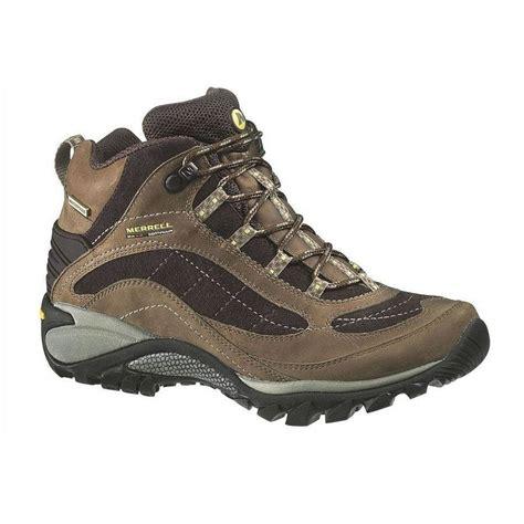 merrell s siren waterproof mid leather hiking boots