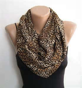 Leopard Infinity Scarf Leopard Infinity Scarf Scarf Fall Scarf By Sascarves