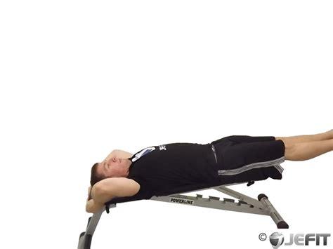 flat bench lying leg raise lying leg raise with hip thrust on bench exercise
