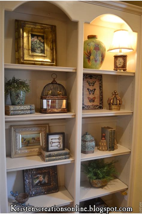 how to decorate built in shelves kristen s creations accessorized bookcases
