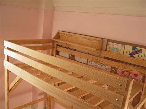 Bed Shelf by Loft Bed With Shelves Plans Furnitureplans