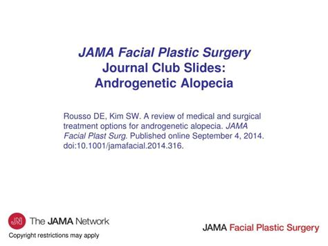 Ppt Jama Facial Plastic Surgery Journal Club Slides Androgenetic Alopecia Powerpoint Journal Club Powerpoint Template