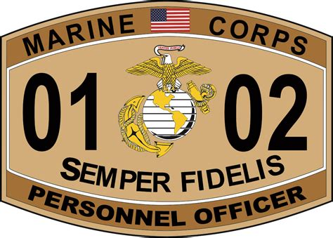 Marine Corps Officer Mos by Personnel Officer Marine Corps Mos 0102 Usmc Decal