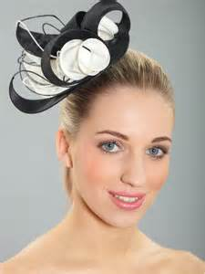 fascinators for hair black and chagne hair fascinator from kate fearnley boutique uk