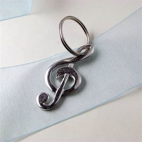 pewter treble clef keyring by multiply design