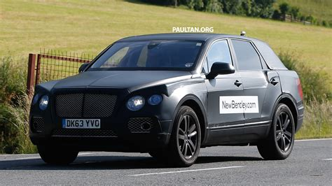 bentley suv 2014 spyshots production bentley suv sighted on test image 253762