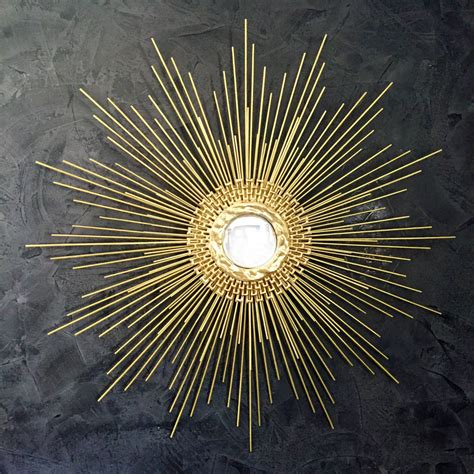 Handmade Mirror - gold starburst mirror handmade sunburst mirror 27in 1006 or