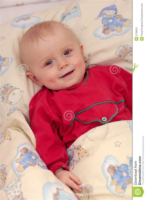 little boy beds little boy in baby bed royalty free stock image image 2133816