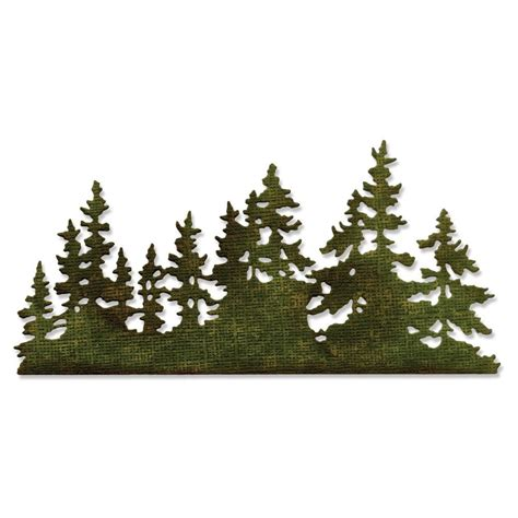 661604 sizzix thinlits die tree line by tim holtz