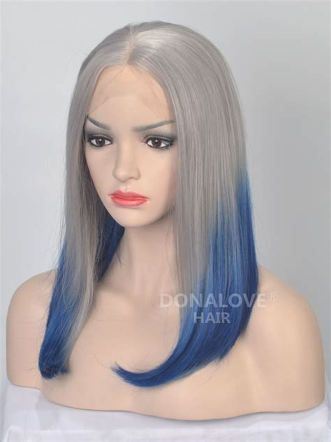 ambra color wigs straight ombre color bob synthetic lace front wig sny035