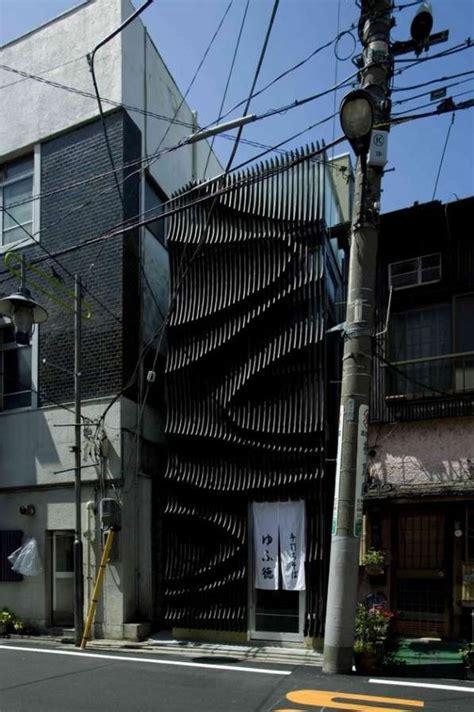 undulating eatery facades yufutoku restaurant
